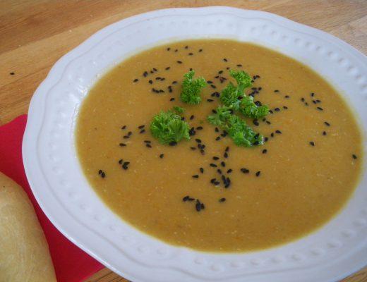 Rezepte - Suppen - rote Linsensuppe mit Karotten - glutenfrei, clean eating & vegan