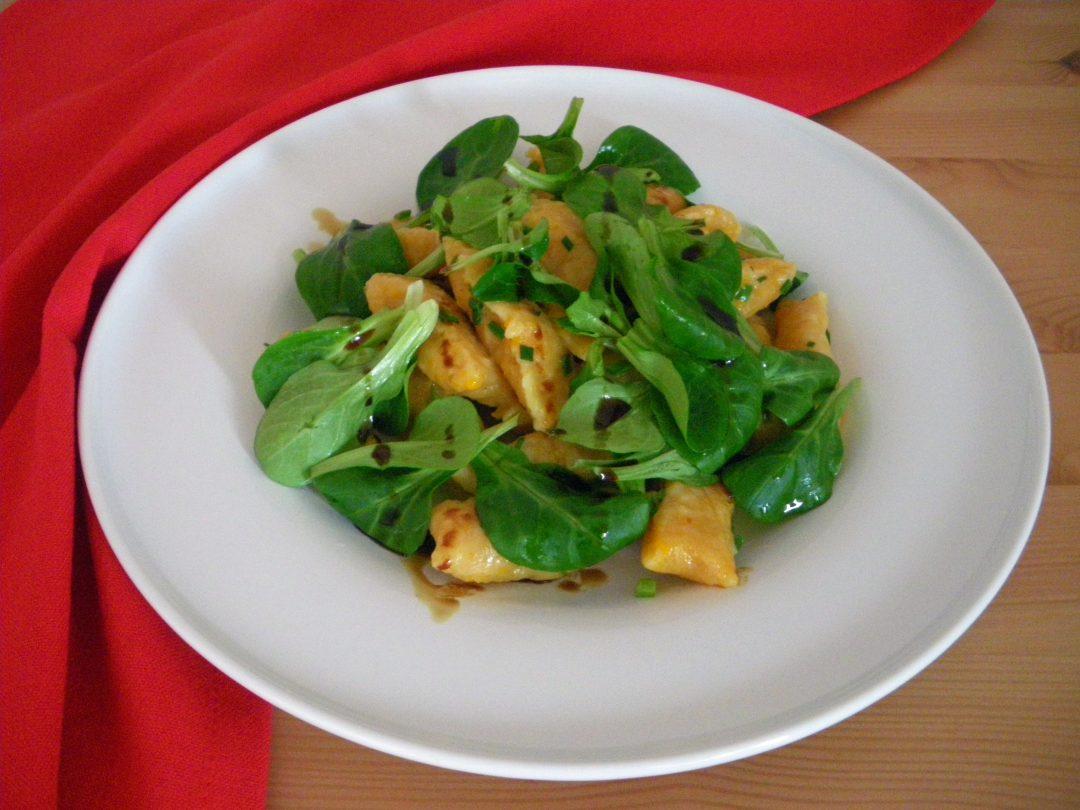 Rezepte -Kürbis-Gnocchi mit Feldsalt - glutenfrei