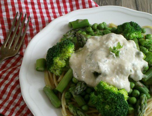 Rezepte - Nudeln & Gemüse - Mittagessen - Spaghetti - Bohnen - Brokkoli - Erbsen - vegan - glutenfrei - vollwertig