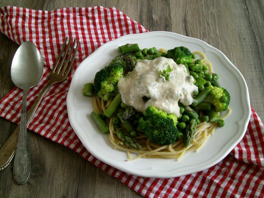 Rezepte - Hauptgerichte - Spaghetti - Gemüse - Bohnen - vollwertig - vegan - glutenfrei