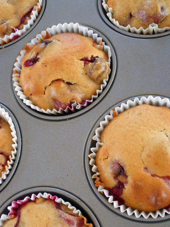 Rezepte - Kuchen - Muffins - frische Kirschen - Marzipan - ohne Weizen & ohne Kasein