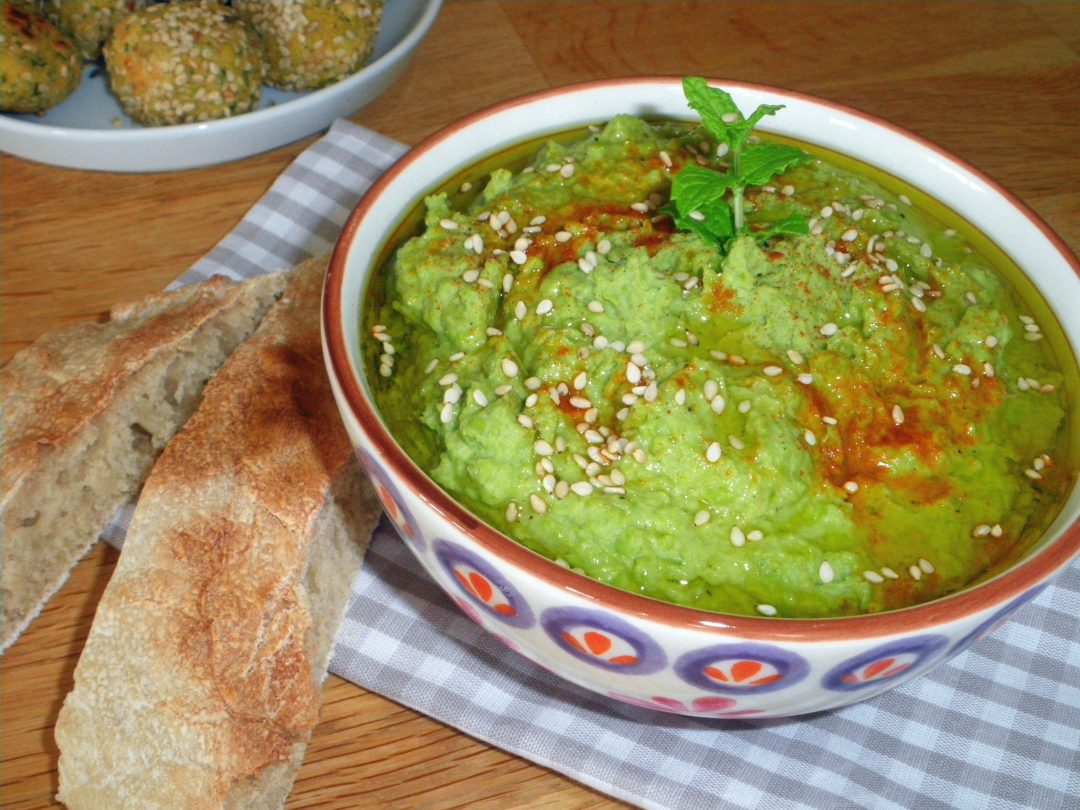 Rezepte - Dips & Aufstriche - Erbsen-Hummus - vollwertig - glutenfrei - vegan