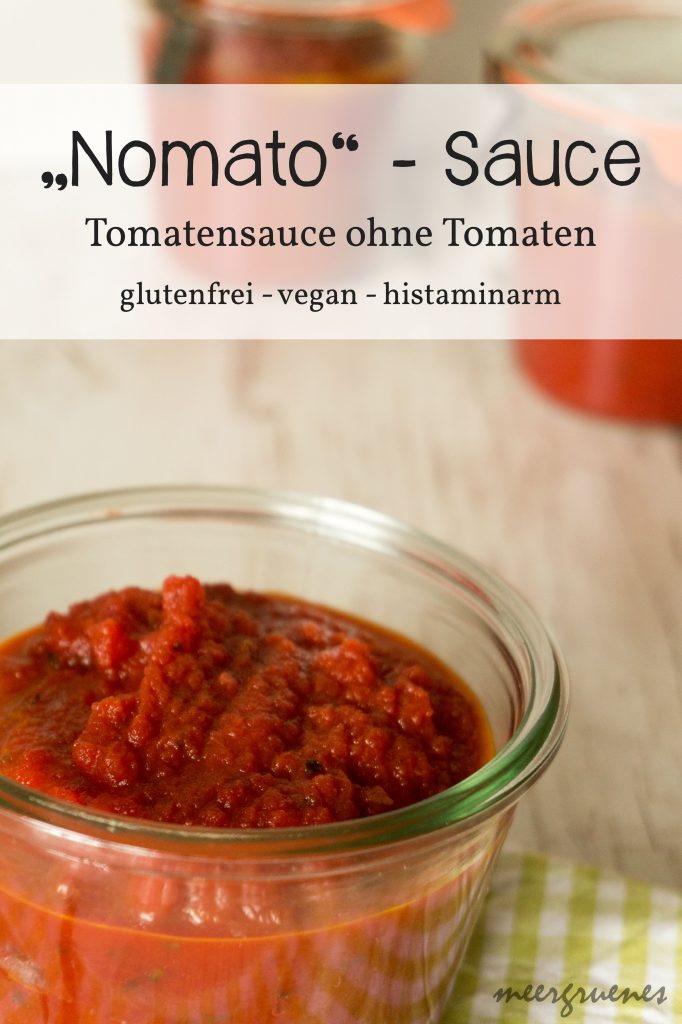Rezepte - Saucen - Dips - Tomatensaucen - Nomatosauce - vegan - glutenfrei - histaminarm