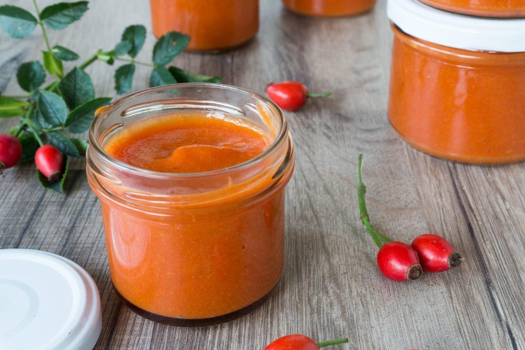 Rezept für Hagebuttenmark - Einkochen - Bevorraten - Tomatenmarkersatz - histaminarm - glutenfrei - clean eating