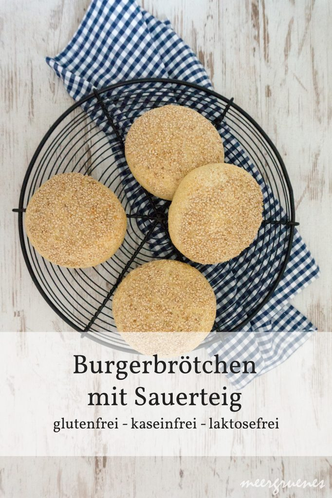 Rezepte - Brötchen - Burger - Sesam - Sauerteig - glutenfrei