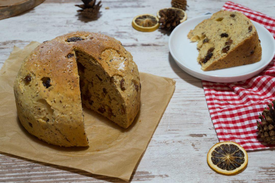 Rezepte - Brot - glutenfrei - Panettone - Schär Brot Mix B - Mandeln - Rosinen - Cranberrys