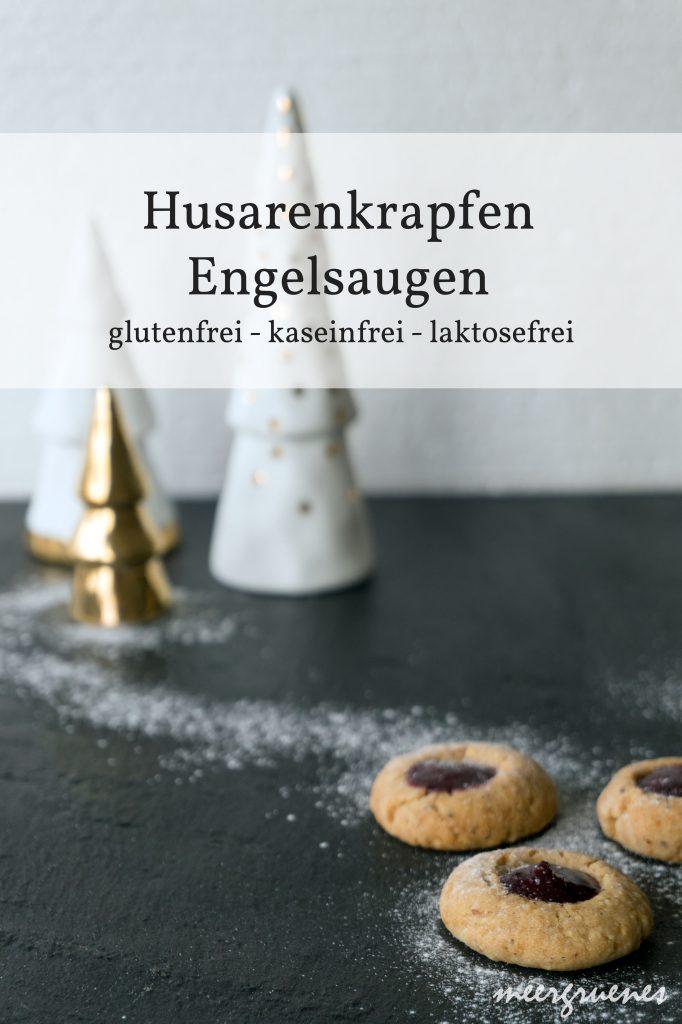 Rezepte - Plätzchen - Weihnachten - Weihnachstbäckerei - Husarenkrapfen - Engelsaugen - glutenfrei