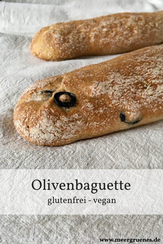 Rezept für glutenfreies Olivenbaguette - veganes Baguetterezept ohne Gluten