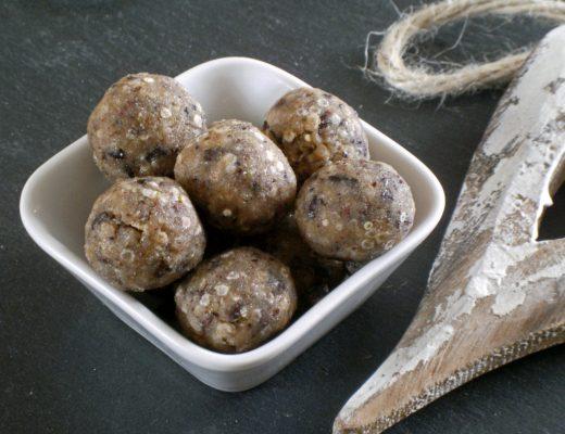 Rezepte - Snacks - Süßes - Cashew-Quinoa Kugeln - glutenfrei - vegan