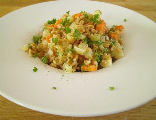 Rezepte - Reis - Getreide - Dinkelkernotto - Gemüse - weizenfrei - vegan - histaminarm - kochen
