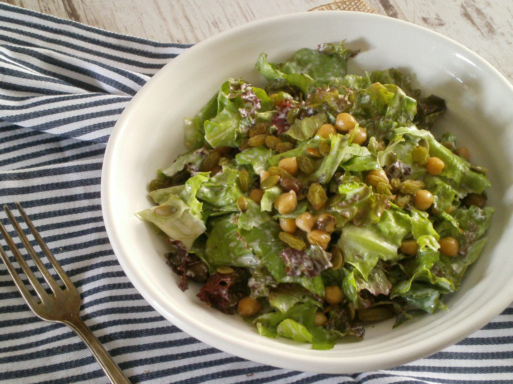 Rezepte - Hauptspeise - Salat - Gemüse - Salat mit Kichererbsen & Rosinen - glutenfrei - vegan - essen