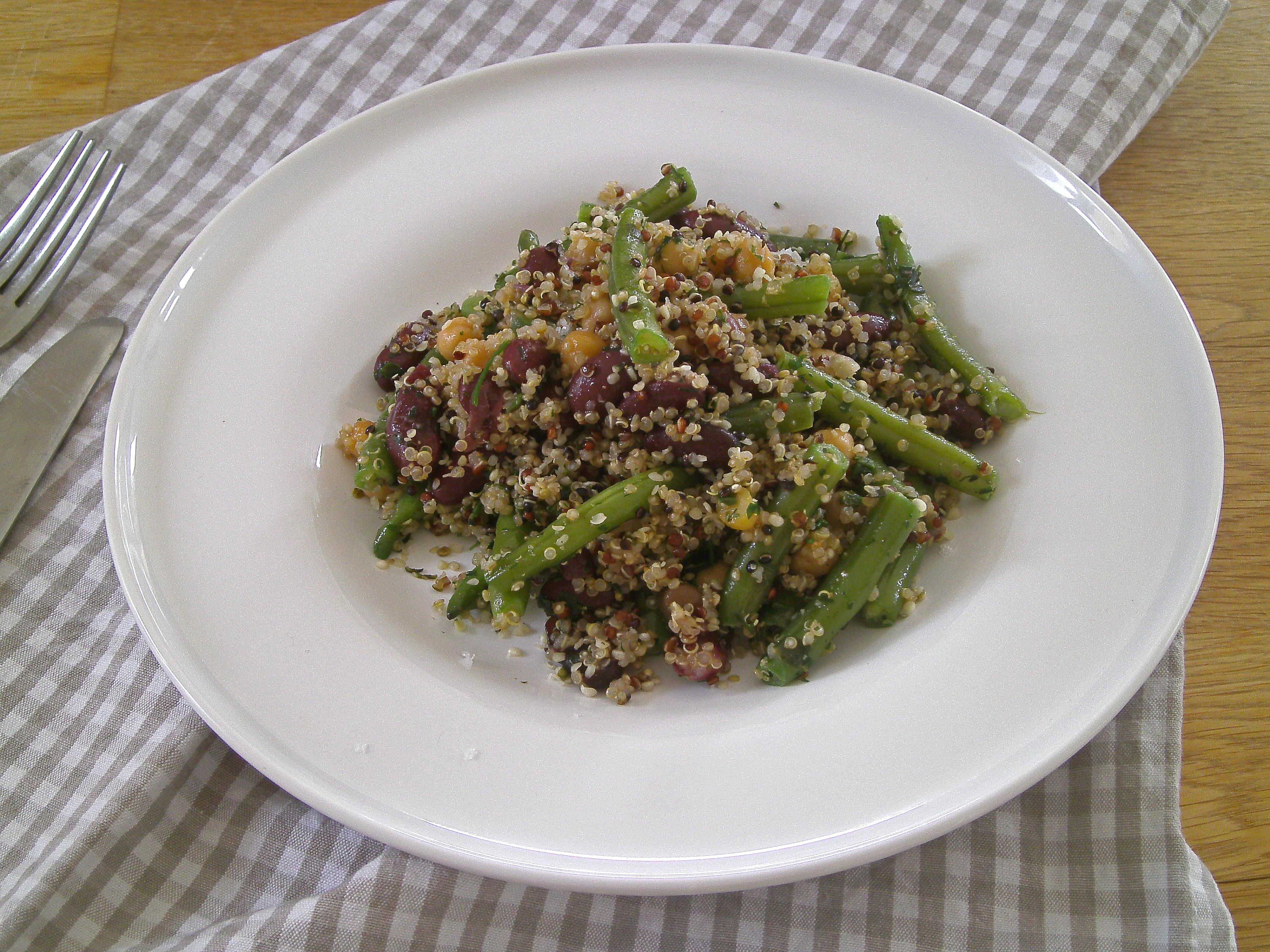 Rezept - Hauptgerichte - Getreide - Bohnen Quinoa Pfanne - vegan - glutenfrei - kochen