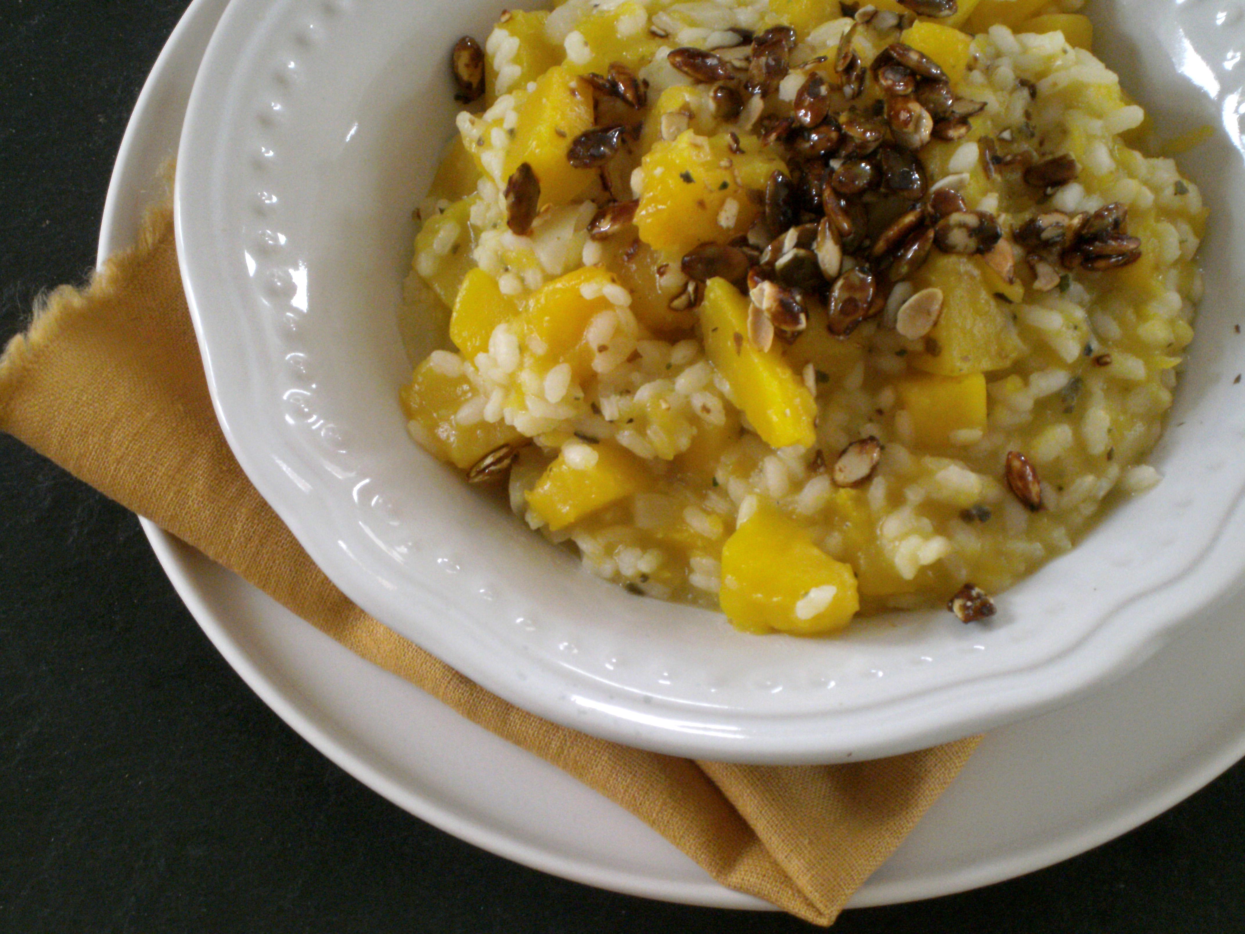 Rezepte - Hauptgerichte - Reis - Kürbis-Risotto - weizenfrei - glutenfrei - histaminarm - kaseinfrei - kochen