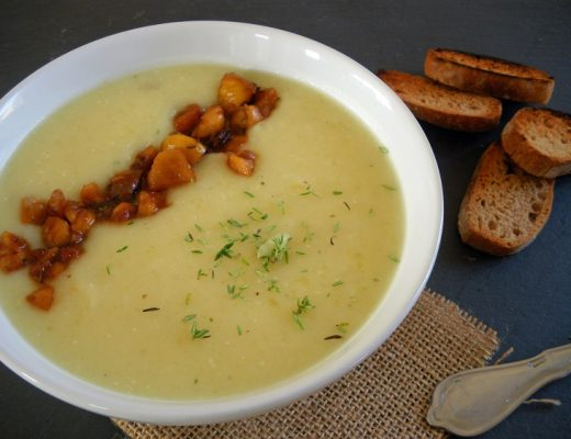 Rezepte - Hauptgerichte - Suppen - Wurzelsuppe mit glasierten Maronen