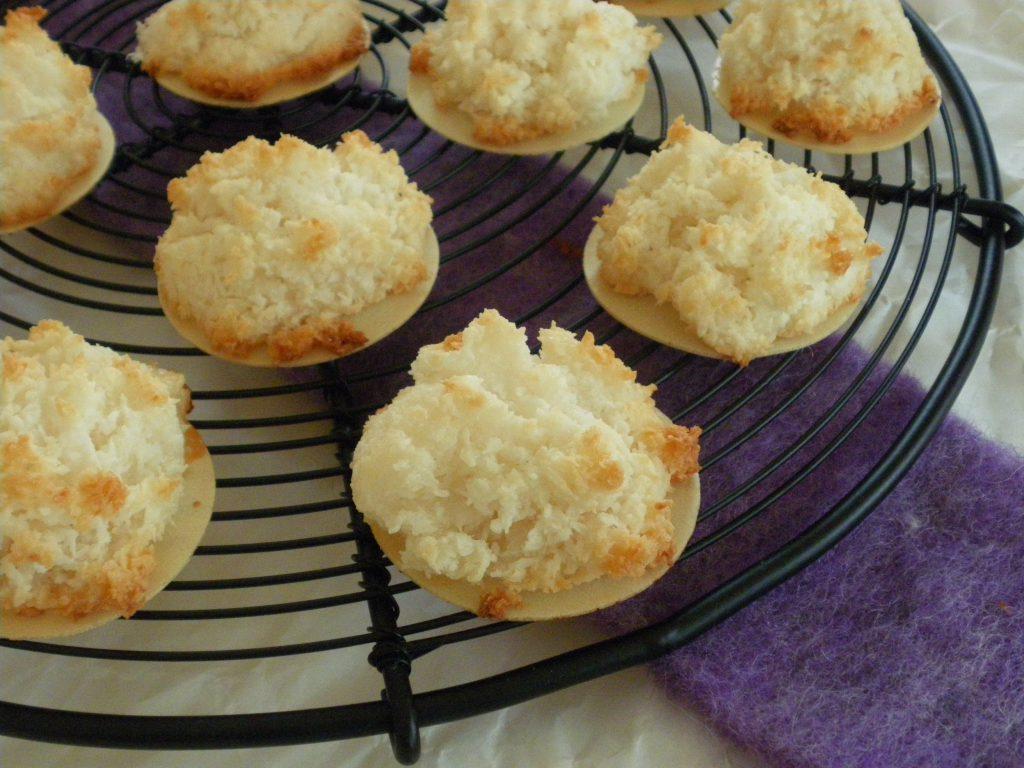 Rezepte - Weihnachtsbäckerei - Kokosmakronen ohne Ei-Ersatz