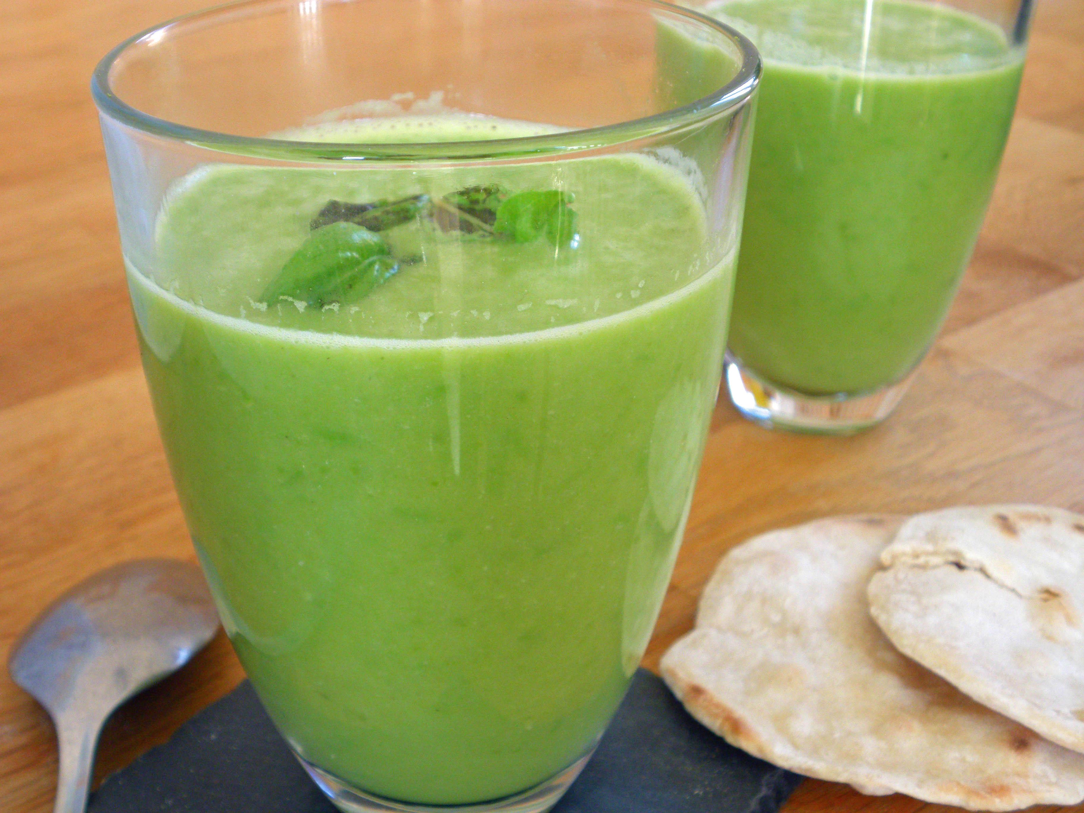Rezepte - Suppe - grüne Erbsensuppe - glutenfrei