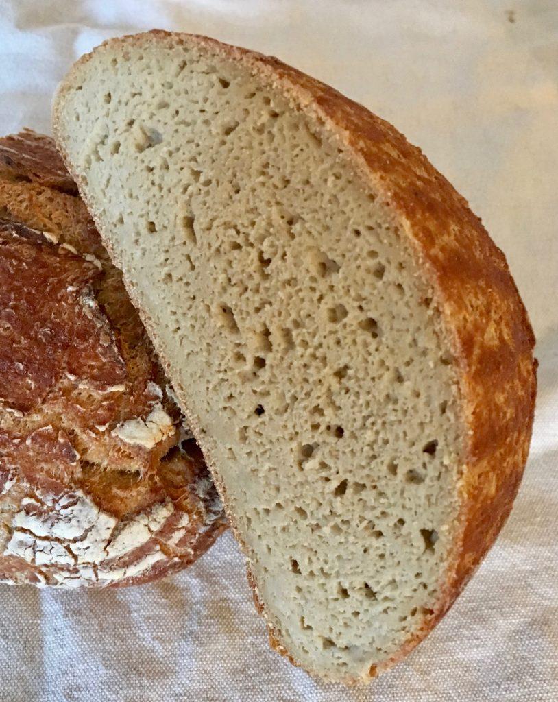 Rezepte - glutenfreie Brot mit Sauerteig - Anschnitt - Hirse - Teff - Reismehl
