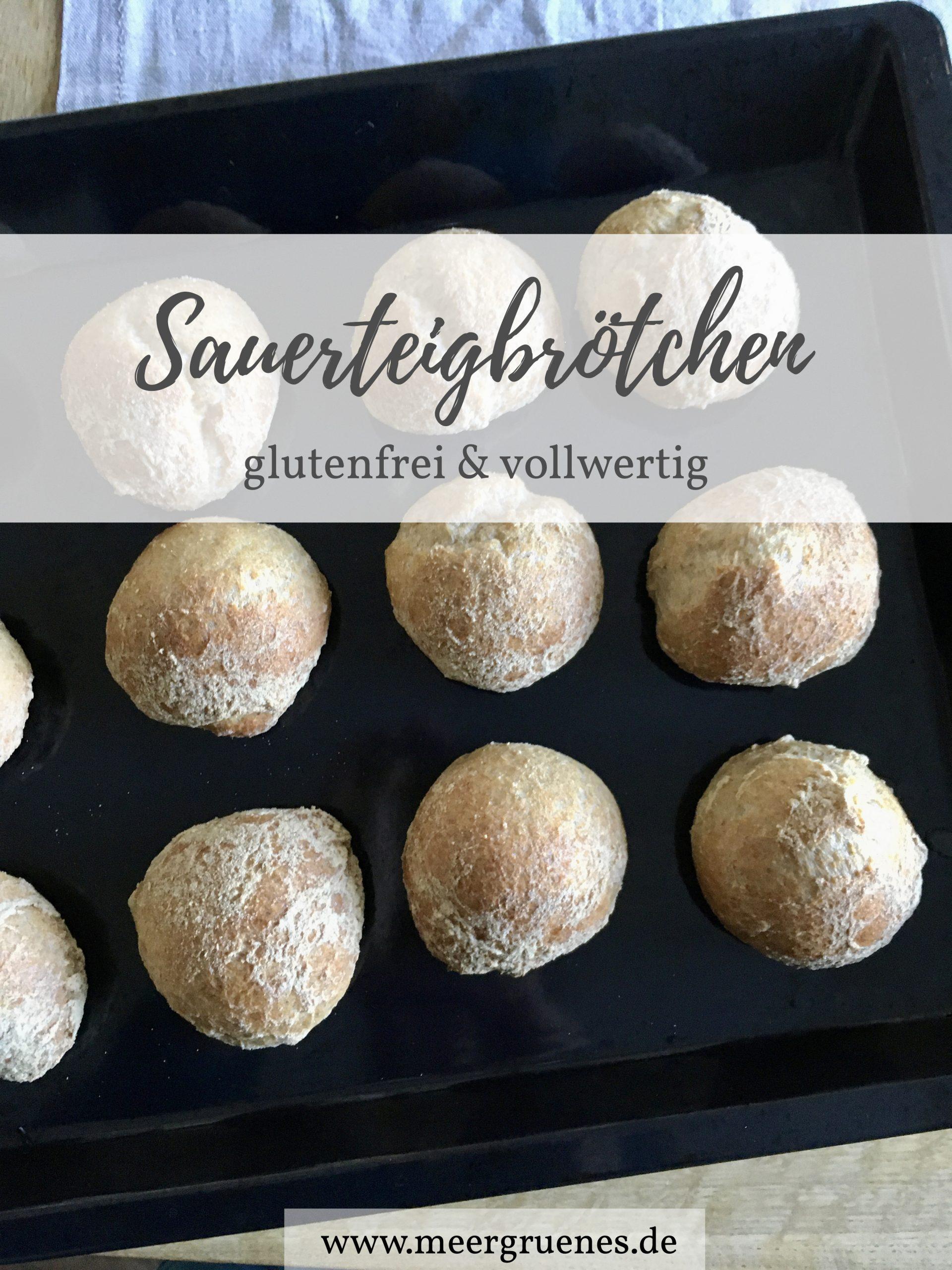Rezept für Sauerteigbrötchen mit Übernachtgare - glutenfrei vegan vollwertig gesund backen