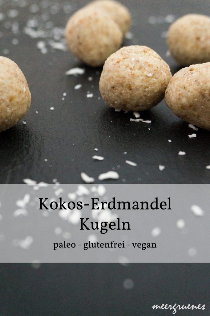 Rezepte - Snacks - Kokos-Erdmandel-Kugeln - glutenfrei, paleo & vegan